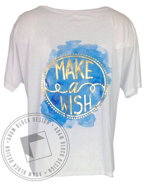 Chi Omega Make A Wish Vneck by Adam Block Design | Custom Greek Apparel & Sorority Clothes | www.adamblockdesign.com