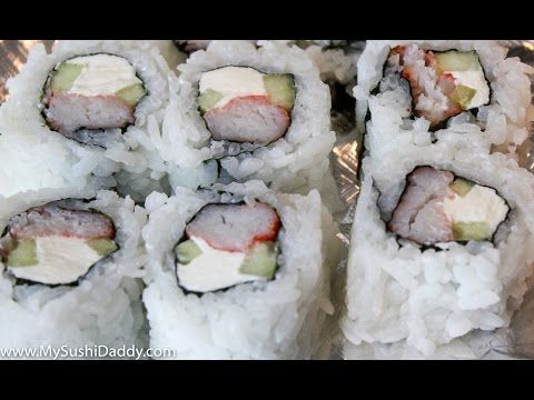 How to Make a California Roll With Cream Cheese | My Sushi Daddy