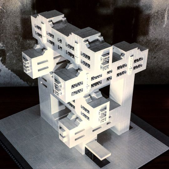 with a penchant for berlin architecture german artist arndt schlaudraff creates brutalist buildings made out of white lego bricks ht ignant