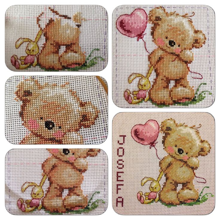 Punto Cruz: Un regalo para una recién nacida / Cross Stitch: A gift for a new born