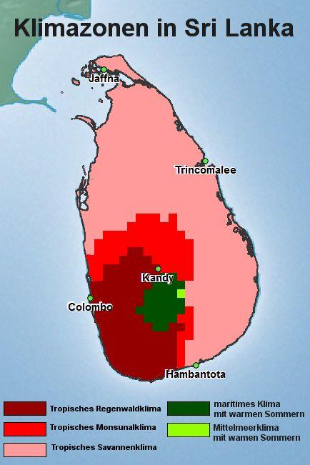 Sri Lanka Klimazone