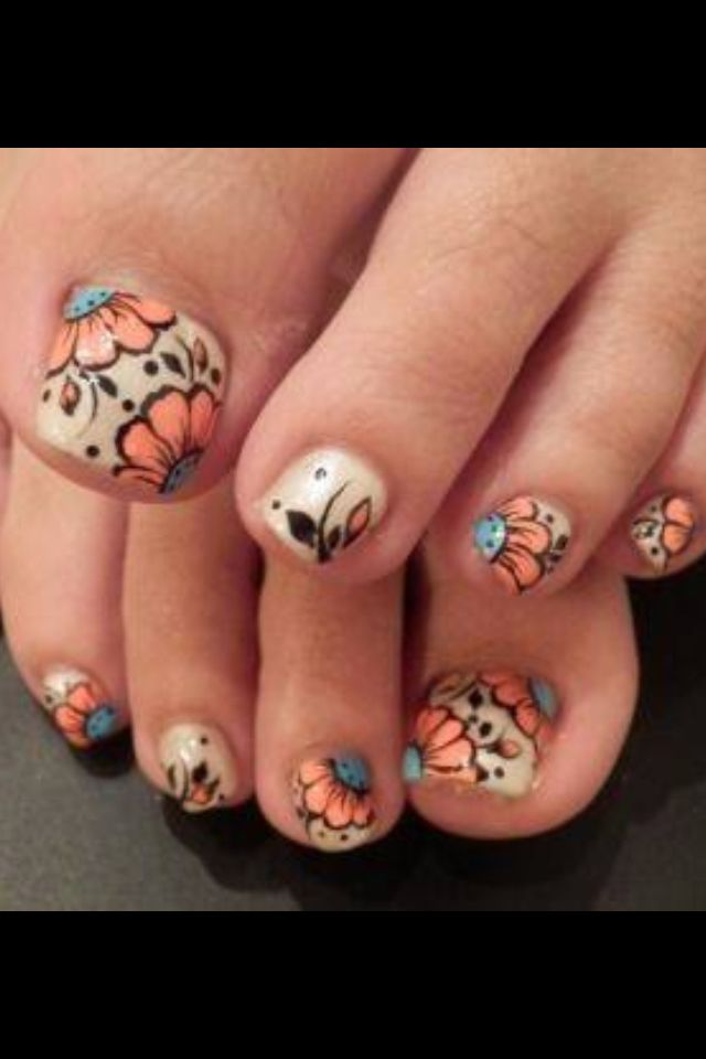 toe nail art cute toe designs pinterest. Black Bedroom Furniture Sets. Home Design Ideas