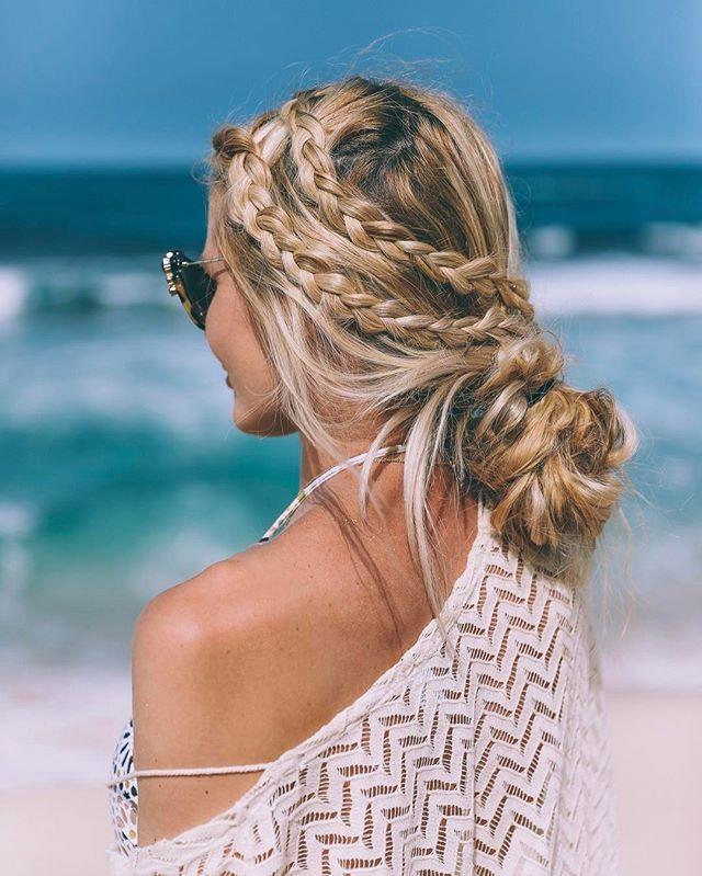 Swimwears and Hairstyles on the Beach