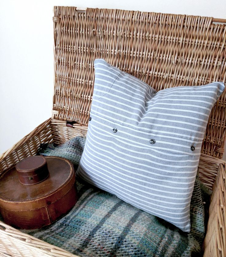Grey Cushion Cover Striped Cushion Cover Decorative Pillow Recycled Autumn Home Gift & Best 25+ Grey cushion covers ideas on Pinterest | Making cushion ... pillowsntoast.com