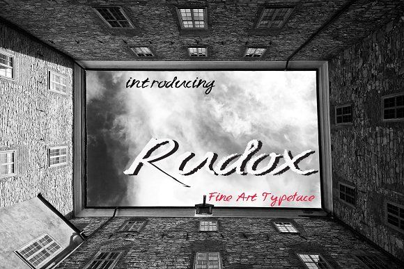 RUDOX Pencil Rough Typeface by MARSOSE on @creativemarket