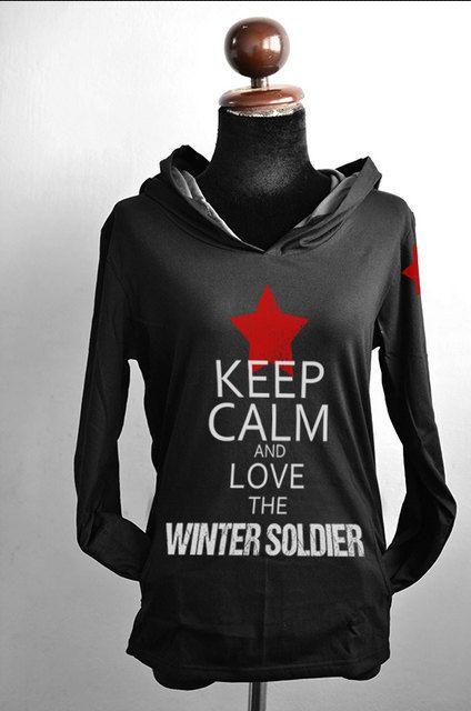 Bucky keep calm and love the Winter Soldier black by chibiQcute, $38.00 I NEEEEEEEED THIIIIIISSSS!!!!!