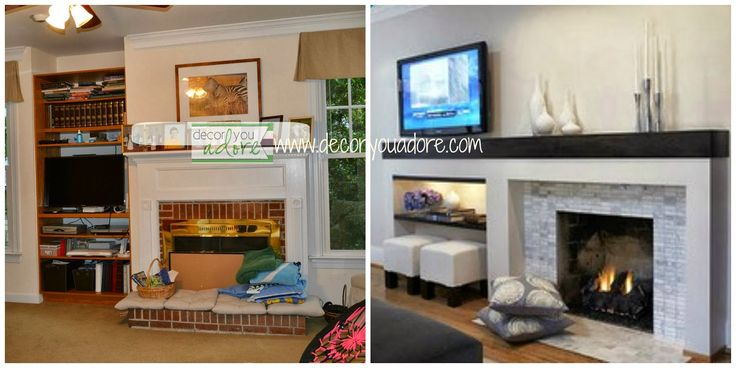 8 Best Asymmetrical Fireplace Mantels Images On Pinterest