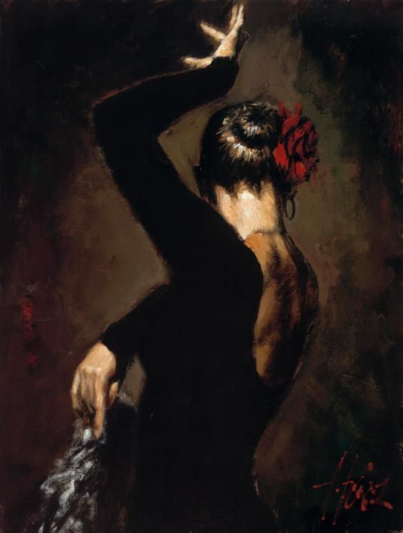 Fabian Perez 1967 ~ pintor argentino figurativo | Bailarines de Flamenco
