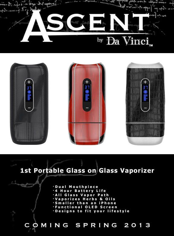 https://healthvaporizers.com/davinci-ascent-vaporizers.html - Davinci Ascent is a high quality #vaporizer for sale that uses herbs to vape out #marijuana when you want pure flavor with strong potency
