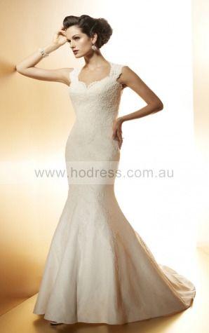 A-line Shoulder Straps Natural Sleeveless Floor-length Wedding Dresses wcs0104