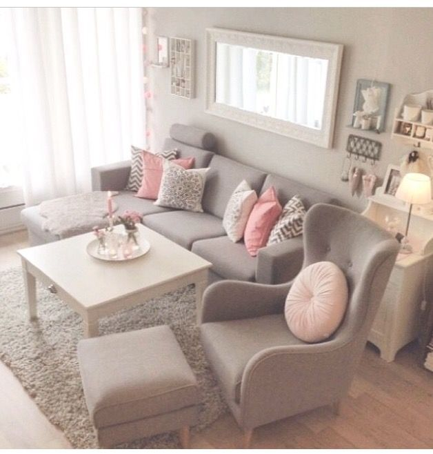 Grey And Pink Living Room. Love This Look For Formal Living Room