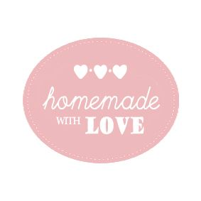 Homemade with love label | Zelfgemaakte handscrub