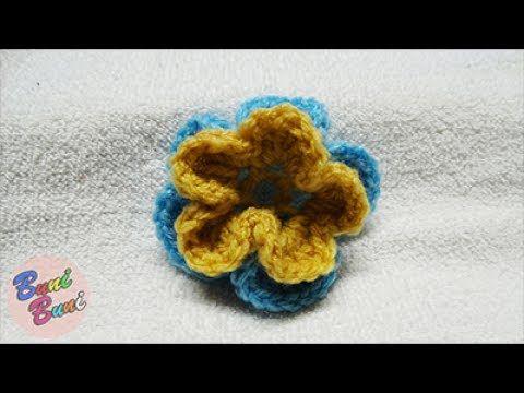 CROSETAT - Floare cu 2 randuri de petale(Crochet   Pattern)