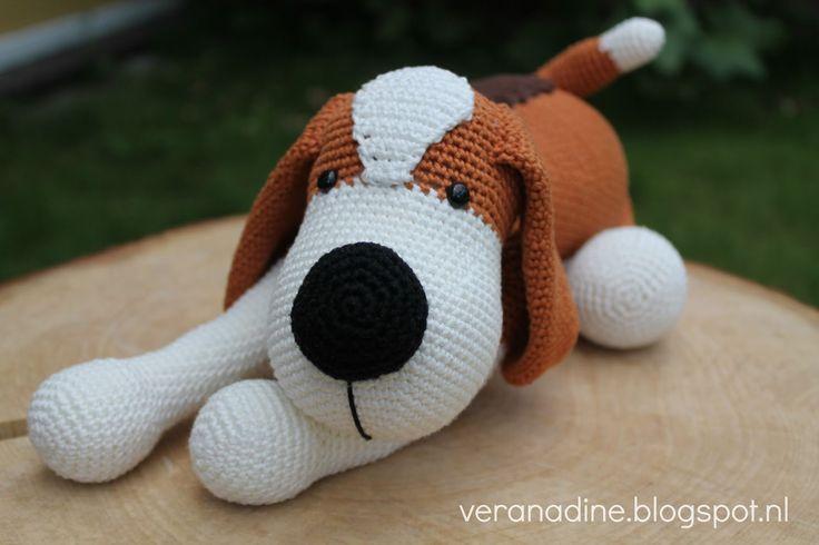 Gehaakte beagle patroon en aanpassingen via website stip en haak