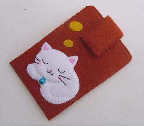 kawaii cat case front