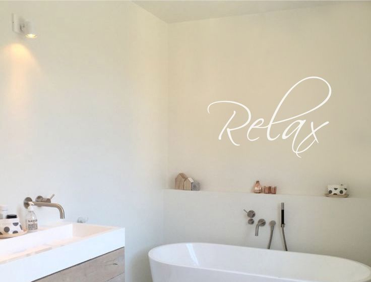 Relax Wall Sticker | Relax Wall Art. Bathroom Wall StickersWall ...