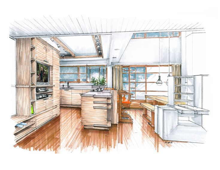 Interior Design Sketches Kitchen 118 best interior   design images on pinterest