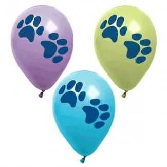 Puppy Party Supplies, Paw Print Latex Balloons, Party Decorations