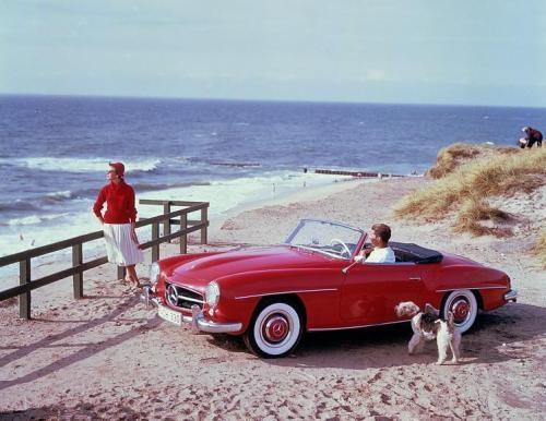 #Mercedes-Benz 190 SL - Wo wird das wohl fotografiert worden sein? #Sylt?