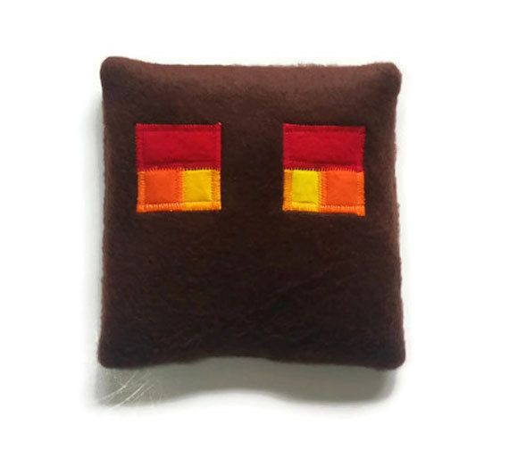 """Minecraft, Magma Cube, rice heating pad, microwave heating pad, handmade reusable bed warmers, rice heat therapy pack, 5 1/2"""" x 5 1/2"""" by CozyComfortsByJackie on Etsy $15.00"""