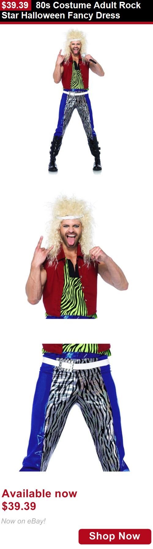 Costumes and reenactment attire: 80S Costume Adult Rock Star Halloween Fancy Dress BUY IT NOW ONLY: $39.39