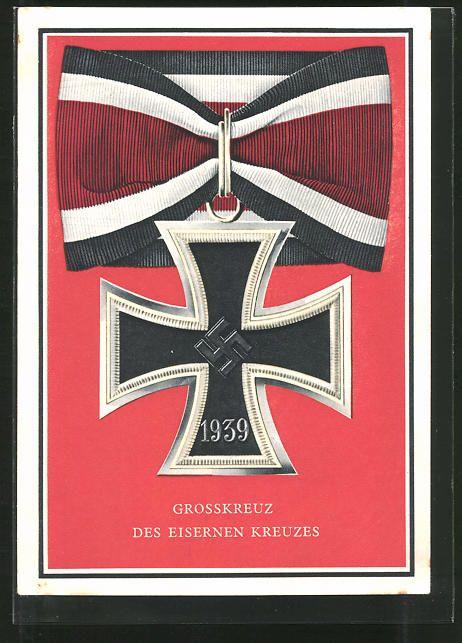 old postcard: AK Kriegsorden d. Großdeutschen Reiches, Großkreuz des Eisernen Kreuzes
