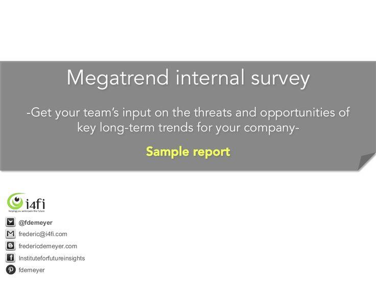 Megatrend survey sample report - How to use megatrend assessments - survey report sample