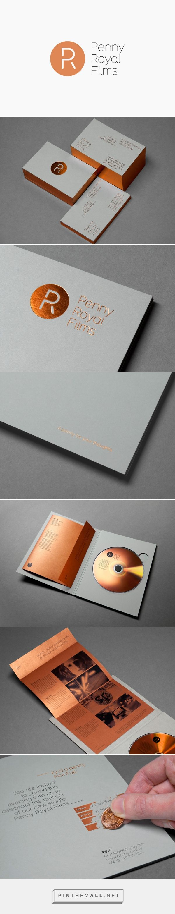 Brand Identity for Penny Royal Films by Alphabetical - BP&O - created via http://pinthemall.net