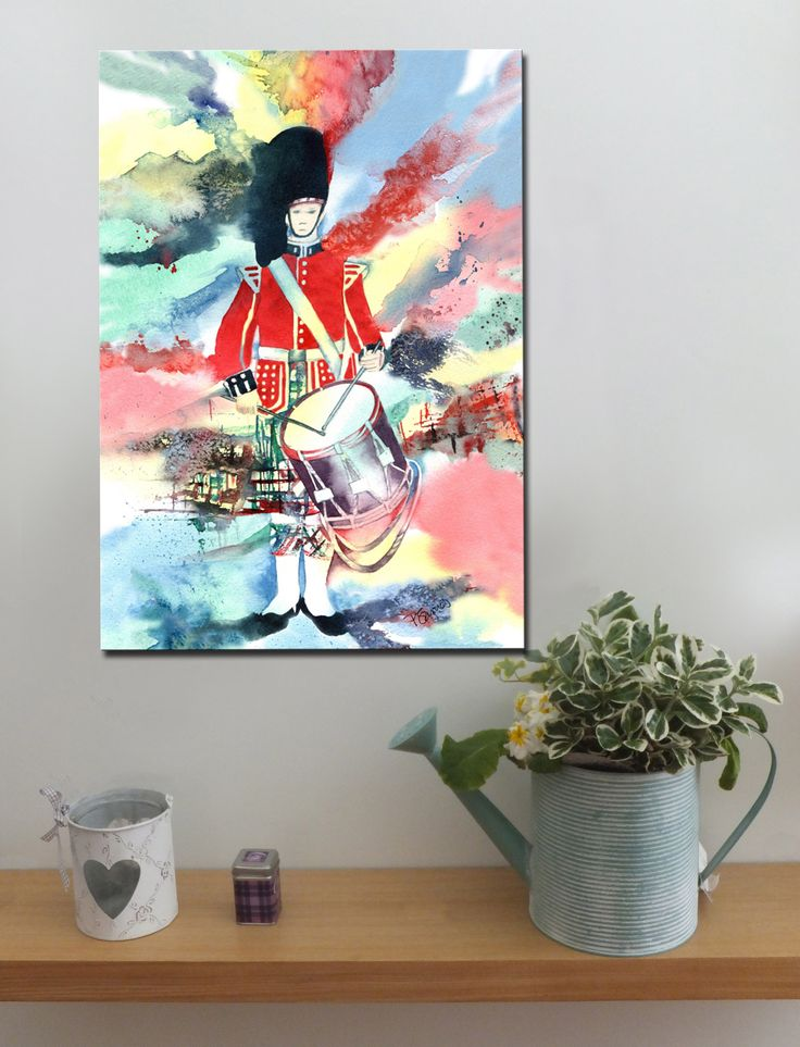 HIGHLAND DRUMMER http://www.splashyartystory.com/shop/art-prints/highland-drummer-art-print-of-painting/