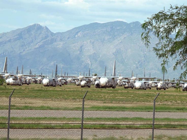The Boneyard at Davis-Monthan AFB off I-10 in Tucson. Where the US government keeps obsolete aircraft. 'Cause, hey, ya never know!