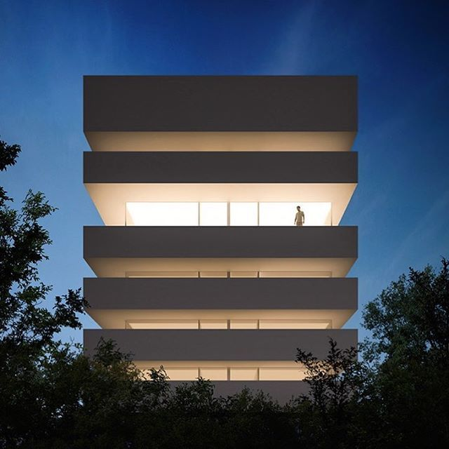 WEBSTA @ designboom - the arcadia hotel by fran silvestre arquitectos is conceived as a series of luminous planes, located in the coastal town of #villajoyosa, in spain.see more #architecture by @fransilvestrearquitectos on #designboom