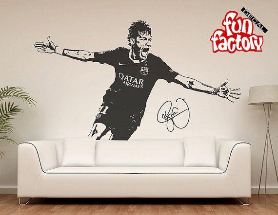 Neymar Da Silva Santos Júnior Wall Decal Sticker FC Barcelona Brasil  Football Soccer Player By FunDecalFactory On Etsy