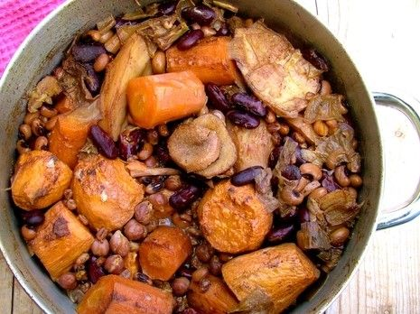 Perfect picture with sephardic cholent
