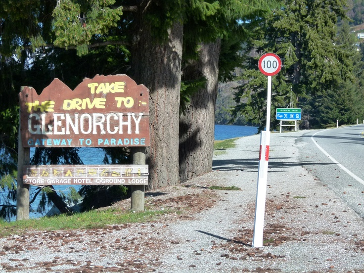 Start of the road trip from Queenstown to Glenorchy