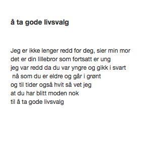 å ta gode livsvalg Månedens TrafoTalent April 2014 #trafo #talentofthemonth #young #artists #norway