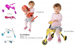 The Scuttlebug is light weight & compact - even your toddler can carry it