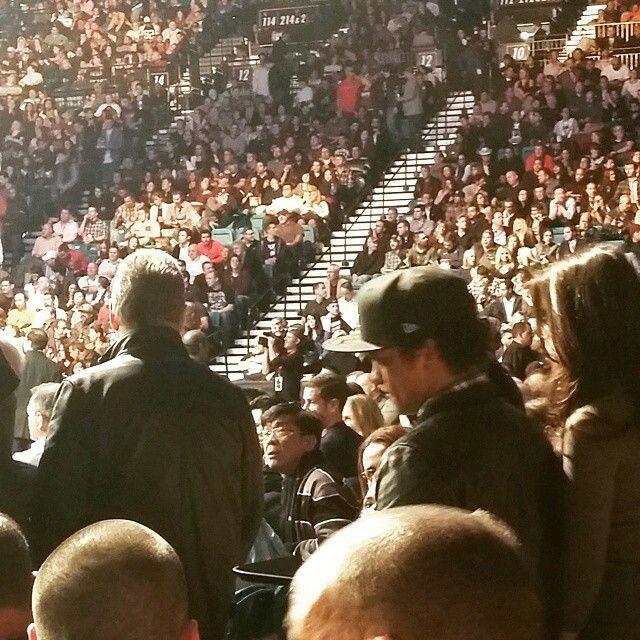 Bruno headed to his floor seats for UFC last night in Vegas 1.3.15