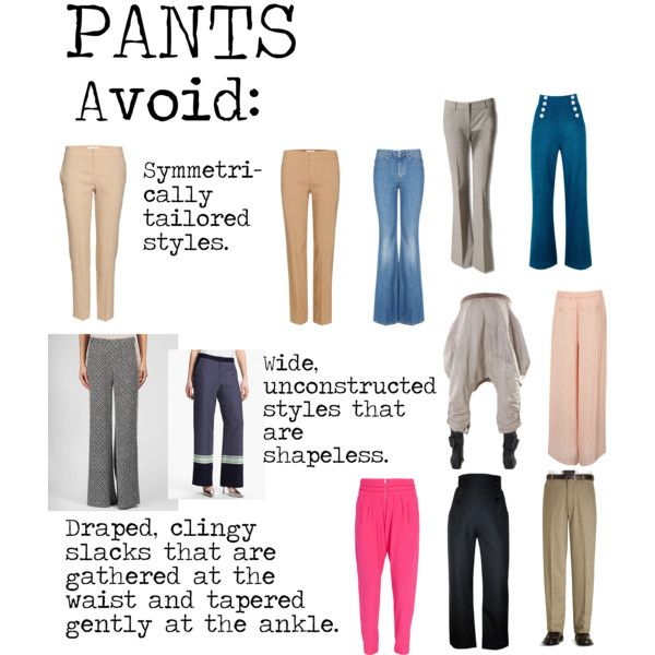 """""""Flamboyant Gamine (FG) Pants to avoid"""" by lightspring on Polyvore"""