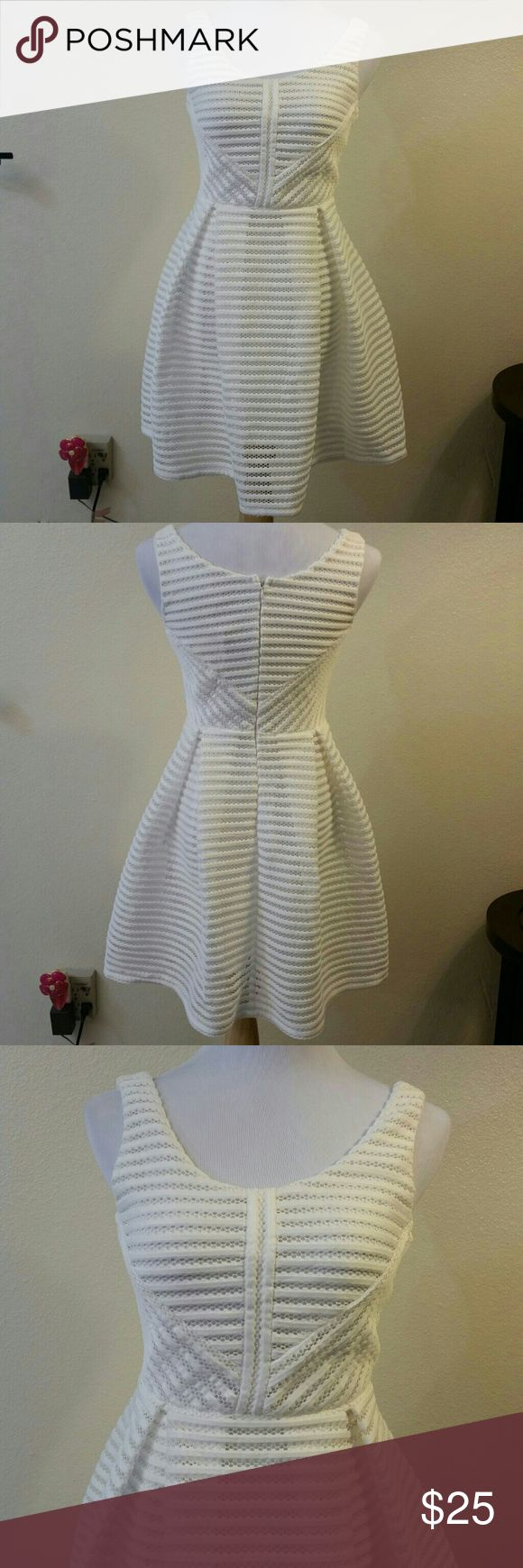 """Vera & Lucy White Skater Dress Brand new adorable """"boutique Sarah structured skater dress"""" for Vera & Lucy. Zipper in the back and it's about 33"""" long. Vera & Lucy Dresses"""