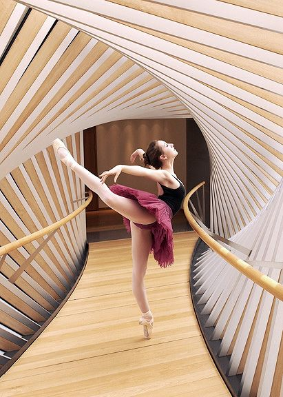 Taken at the bridge that connects the Royal Ballet with the Royal Ballet School. Photo by Gene Schiavone