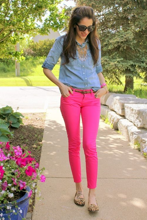 Love the hot pink pants