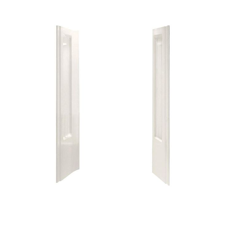 STERLING Advantage 40-5/8 in. x 39-3/8 in. x 65-1/4 in. 2-piece Direct-to-Stud Shower End Wall Set in Biscuit