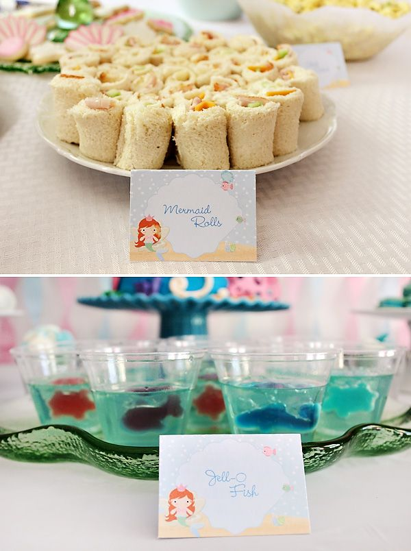 Pink & Blue Mermaid Inspired Birthday Party