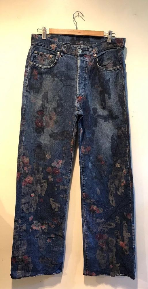 f424a6d8b0b Gucci Womens Floral Wide Leg Denim Size 46 Not Hemmed  fashion  clothing   shoes  accessories  womensclothing  jeans (ebay link)