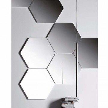 GEOMETRIKA specchio esagonale | Hexagonal mirror | by PIANCA | www.pianca.com