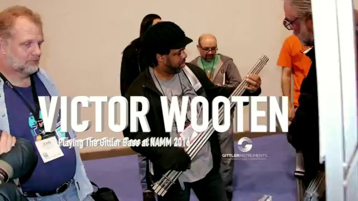 Victor Wooten Playing the Gittler Basses at NAMM 2016 - YouTube