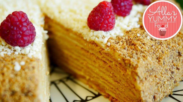 Best Honey Cake Recipe | Medovik | Russian Honey Cake - YouTube
