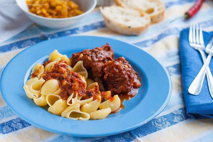 Food for mood. Блог о еде, рецепты и фоторецепты. - Coda alla vaccinara (рагу из бычьего хвоста по-римски)