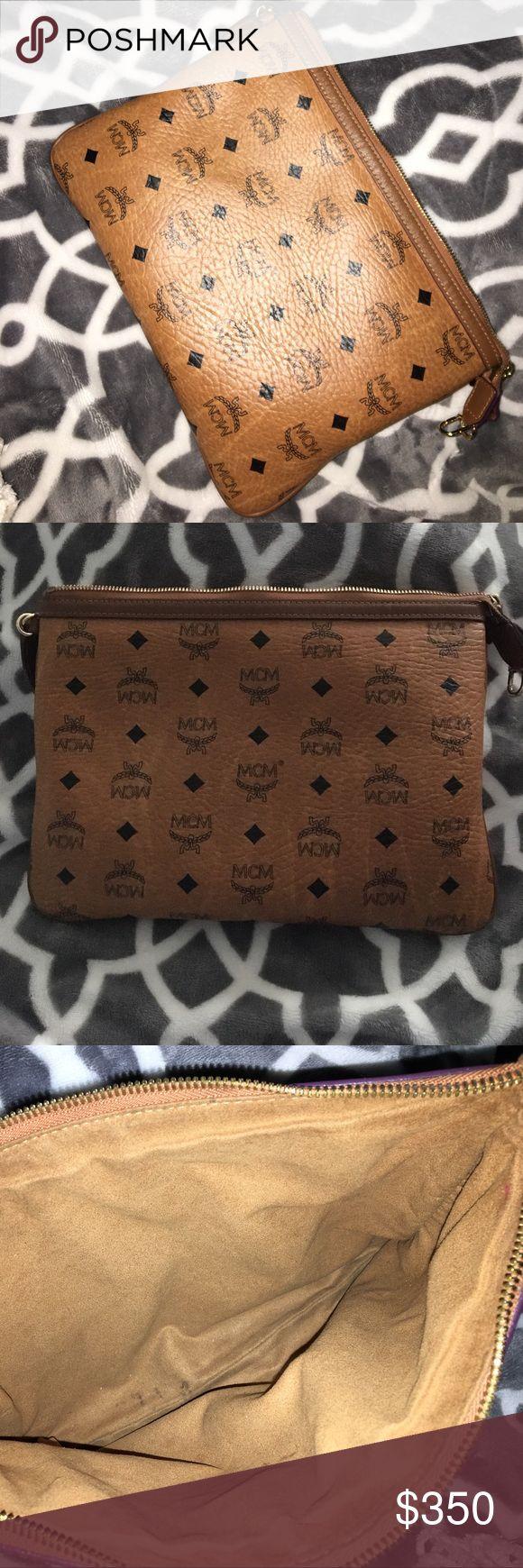 MCM clutch Cognac MCM clutch MCM Bags Clutches & Wristlets