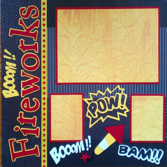 Fireworks 12x12 premade scrapbook layout page ohioscrapper on